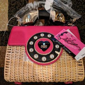 Betsey Johnson Bags - Betsey Johnson Wicker Phone Bag